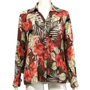 TanJay Accordion Pleated Floral Top